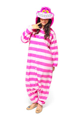 Cheshire Cat Character Kigurumi Adult Onesie Costume Pajamas Main Tertiary