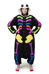 Colorful Skull Animal Kigurumi Adult Onesie Costume Pajamas Main Seconary