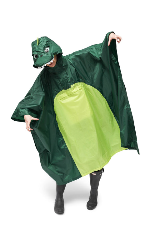 Dinosaur Kigurumi Poncho Raincoat Adult One Size