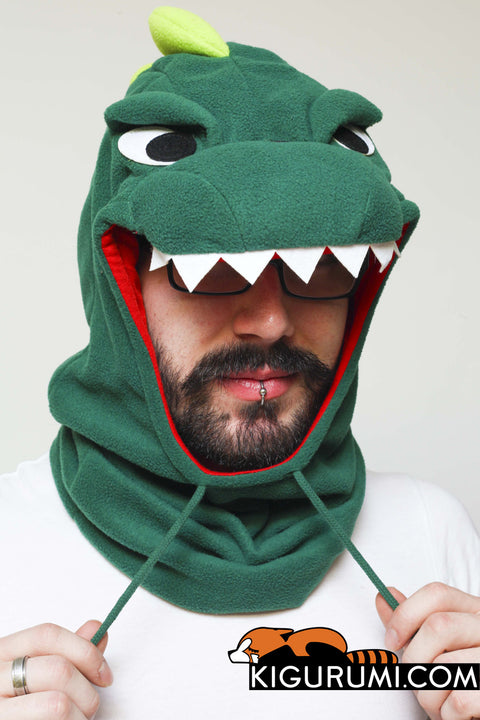 Dinosaur Kigurumi Neckwarmer Onesie Animal Costume Adult Pajamas