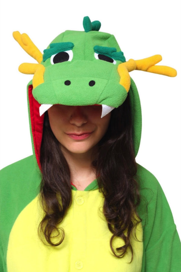 Dragon Animal Kigurumi Adult Onesie Costume Pajamas Hood