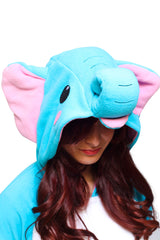 Elephant Animal Kigurumi Adult Onesie Costume Pajamas Hood