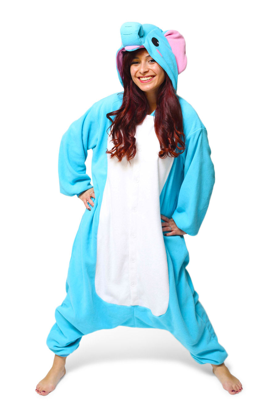 Elephant Animal Kigurumi Adult Onesie Costume Pajamas Main
