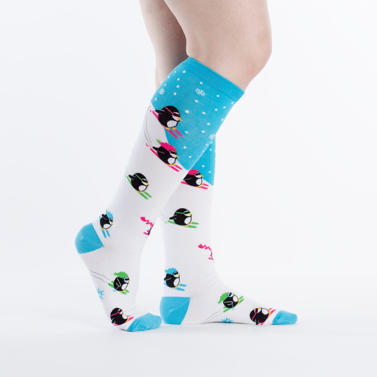 Downhill Penguins Knee Socks