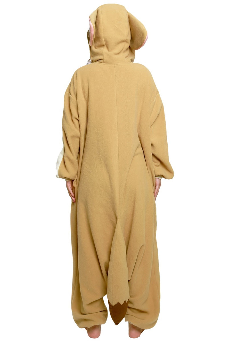 Fennec Fox Animal Kigurumi Adult Onesie Costume Pajamas Back