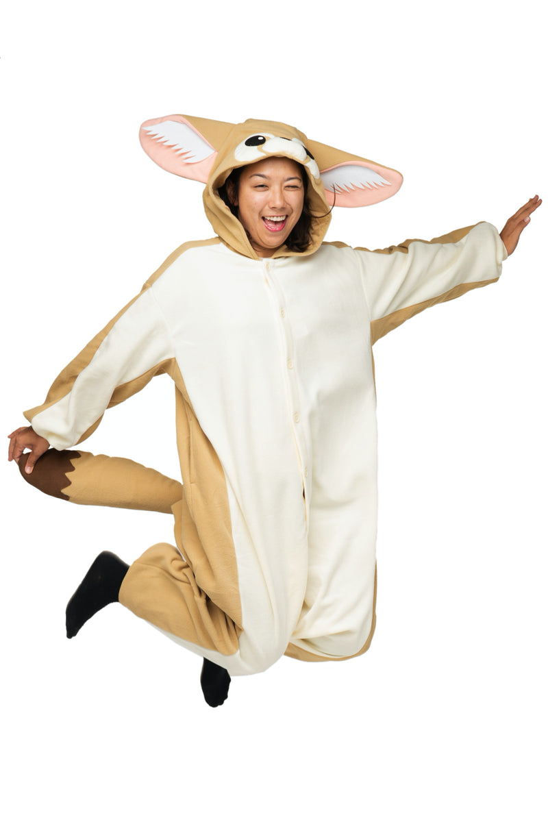 Fennec Fox Animal Kigurumi Adult Onesie Costume Pajamas Main Seconary
