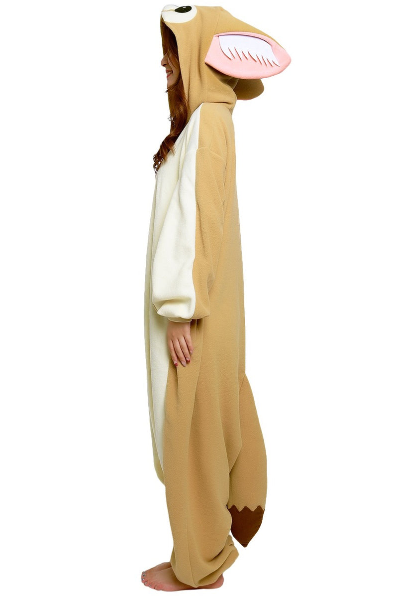 Fennec Fox Animal Kigurumi Adult Onesie Costume Pajamas Side