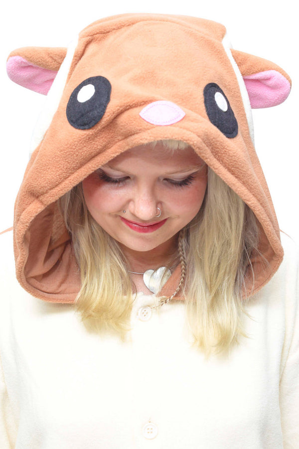 Flying Squirrel Animal Kigurumi Adult Onesie Costume Pajamas Hood
