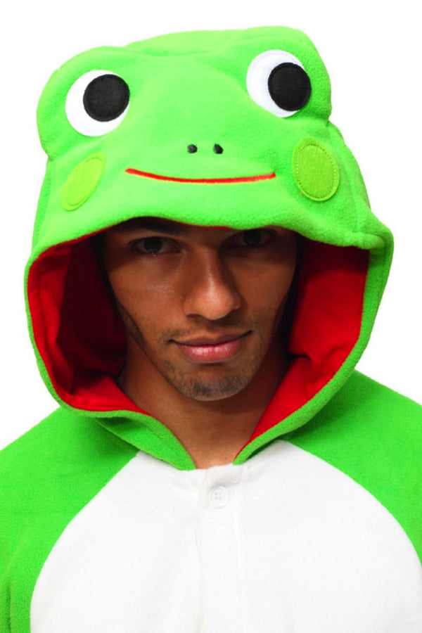 Frog Animal Kigurumi Adult Onesie Costume Pajamas Green Hood