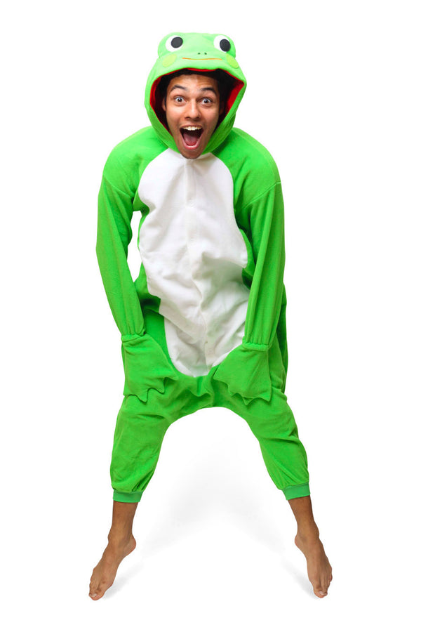 Frog Animal Kigurumi Adult Onesie Costume Pajamas Green Main