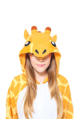 Giraffe Animal Kigurumi Adult Onesie Costume Pajamas Hood