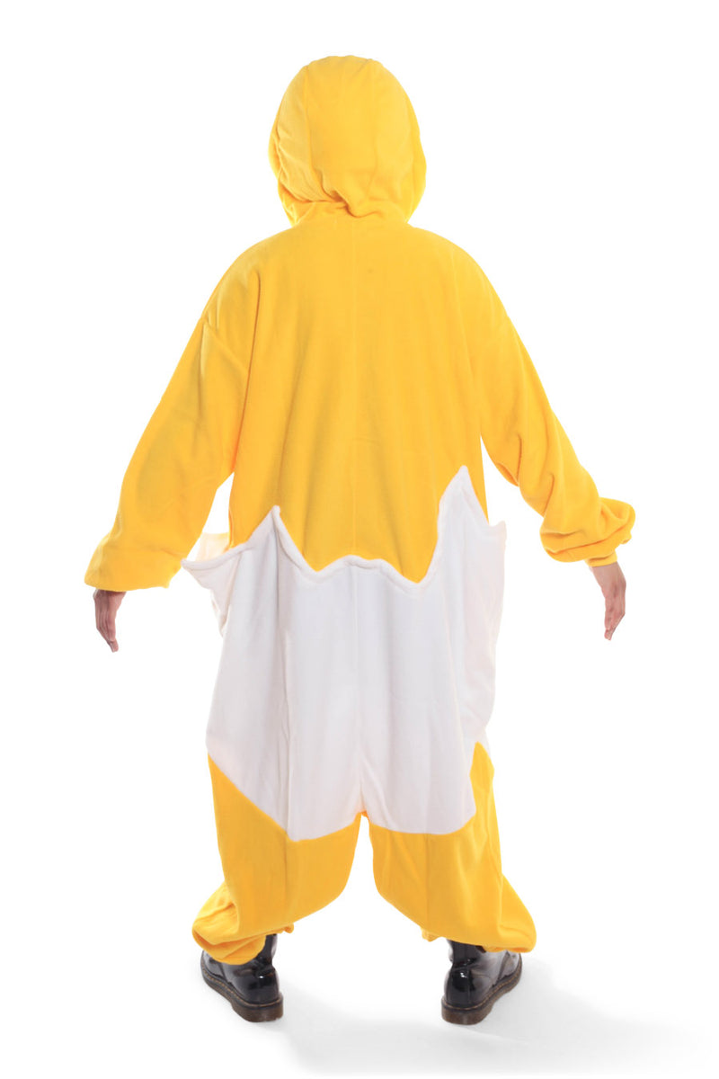 Gudetama Character Kigurumi Adult Onesie Costume Pajamas Yellow Egg White Back