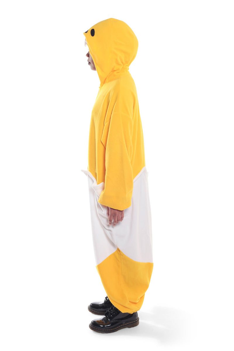 Gudetama Character Kigurumi Adult Onesie Costume Pajamas Yellow Egg White Side