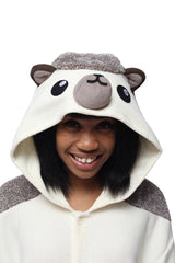 Hedgehog Animal Kigurumi Adult Onesie Costume Pajamas Hood