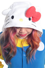 Hello Kitty 70s Character Kigurumi Adult Onesie Costume Pajamas Hood