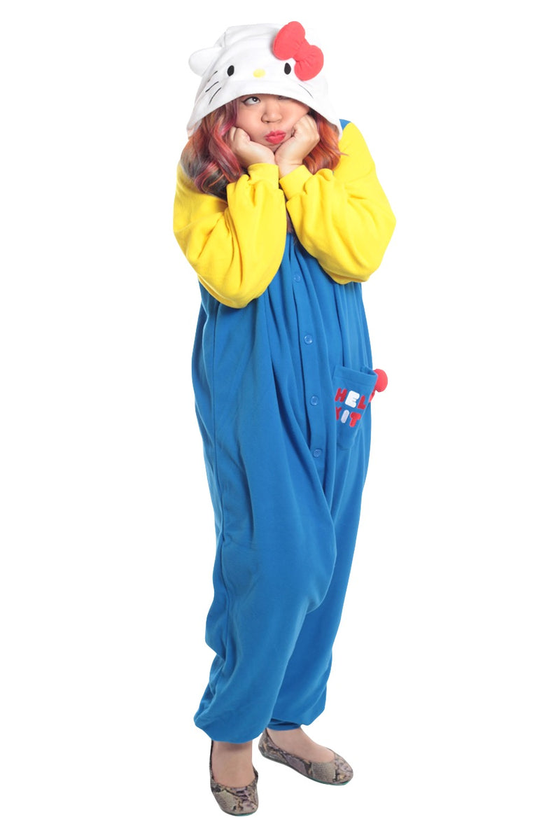 Hello Kitty 70s Character Kigurumi Adult Onesie Costume Pajamas Main Seconary