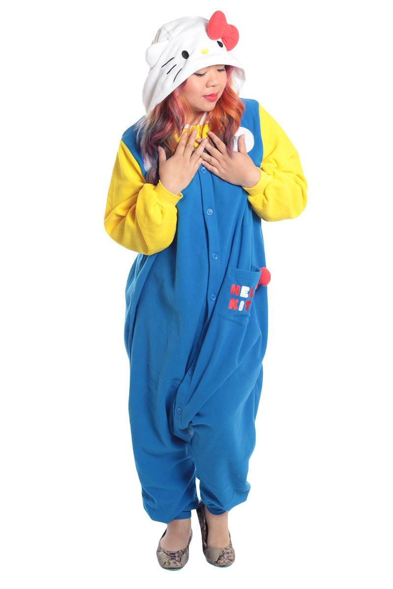 Hello Kitty 70s Character Kigurumi Adult Onesie Costume Pajamas Main