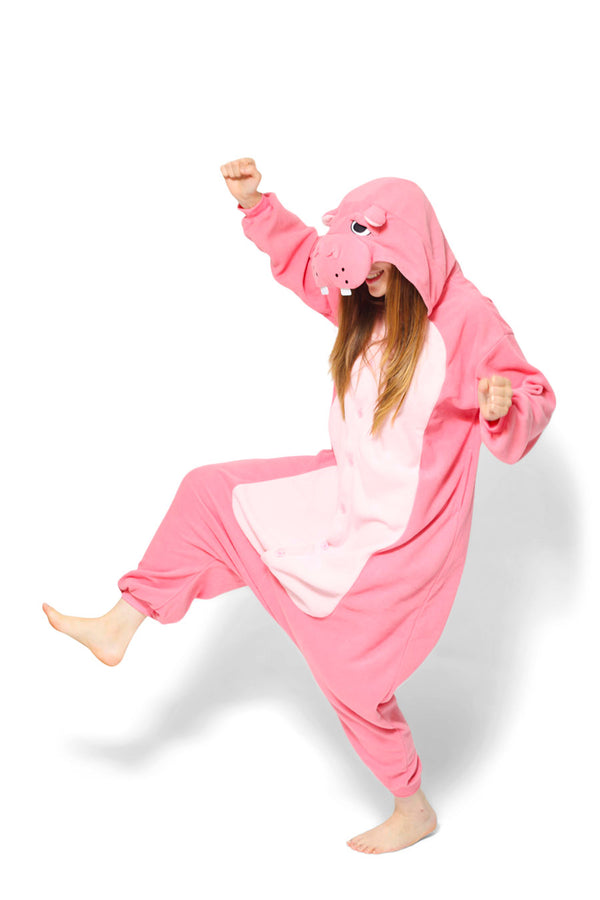 Hippo Animal Kigurumi Adult Onesie Costume Pajamas Main