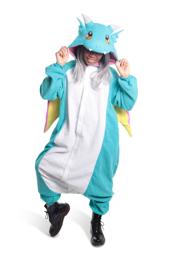 Huff the Teal Dragon Animal Kigurumi Adult Onesie Costume Pajamas Main