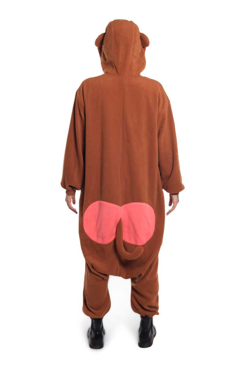 Japanese Monkey Animal Kigurumi Adult Onesie Costume Pajamas Back