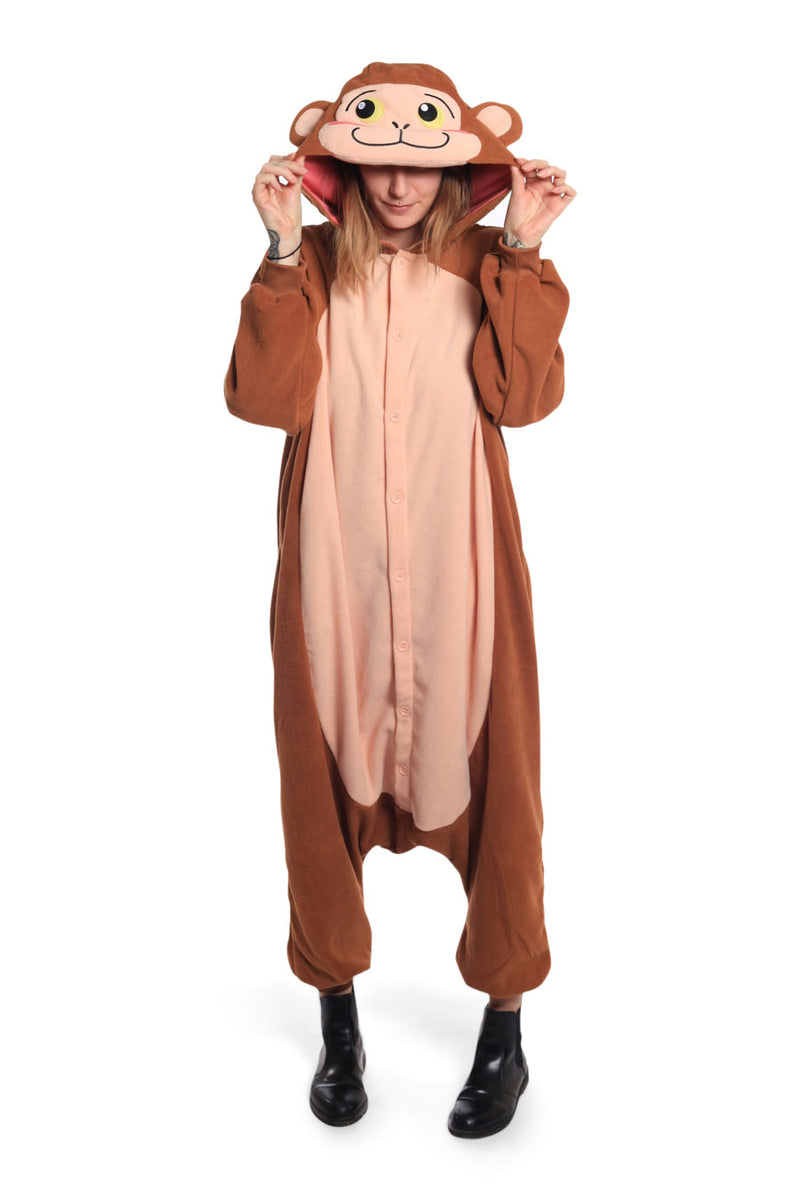 Japanese Monkey Animal Kigurumi Adult Onesie Costume Pajamas Main Seconary