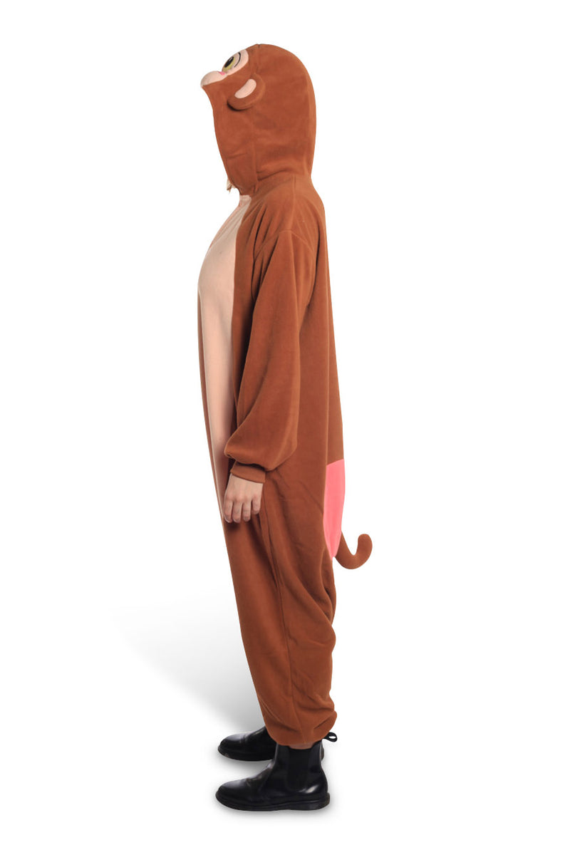 Japanese Monkey Animal Kigurumi Adult Onesie Costume Pajamas Side