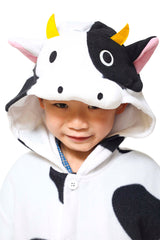 Kids Cow Animal Kigurumi Onesie Costume Pajamas Hood 110cm