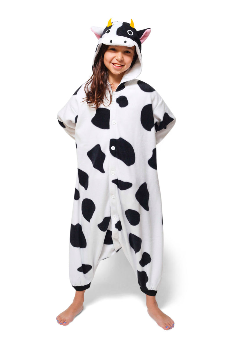 Kids Cow Animal Kigurumi Onesie Costume Pajamas Main 130cm