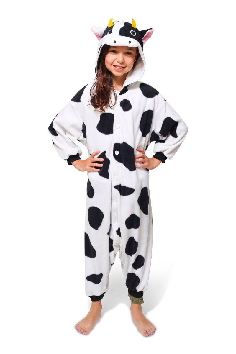 Kids Cow Animal Kigurumi Onesie Costume Pajamas Main Seconary 130cm