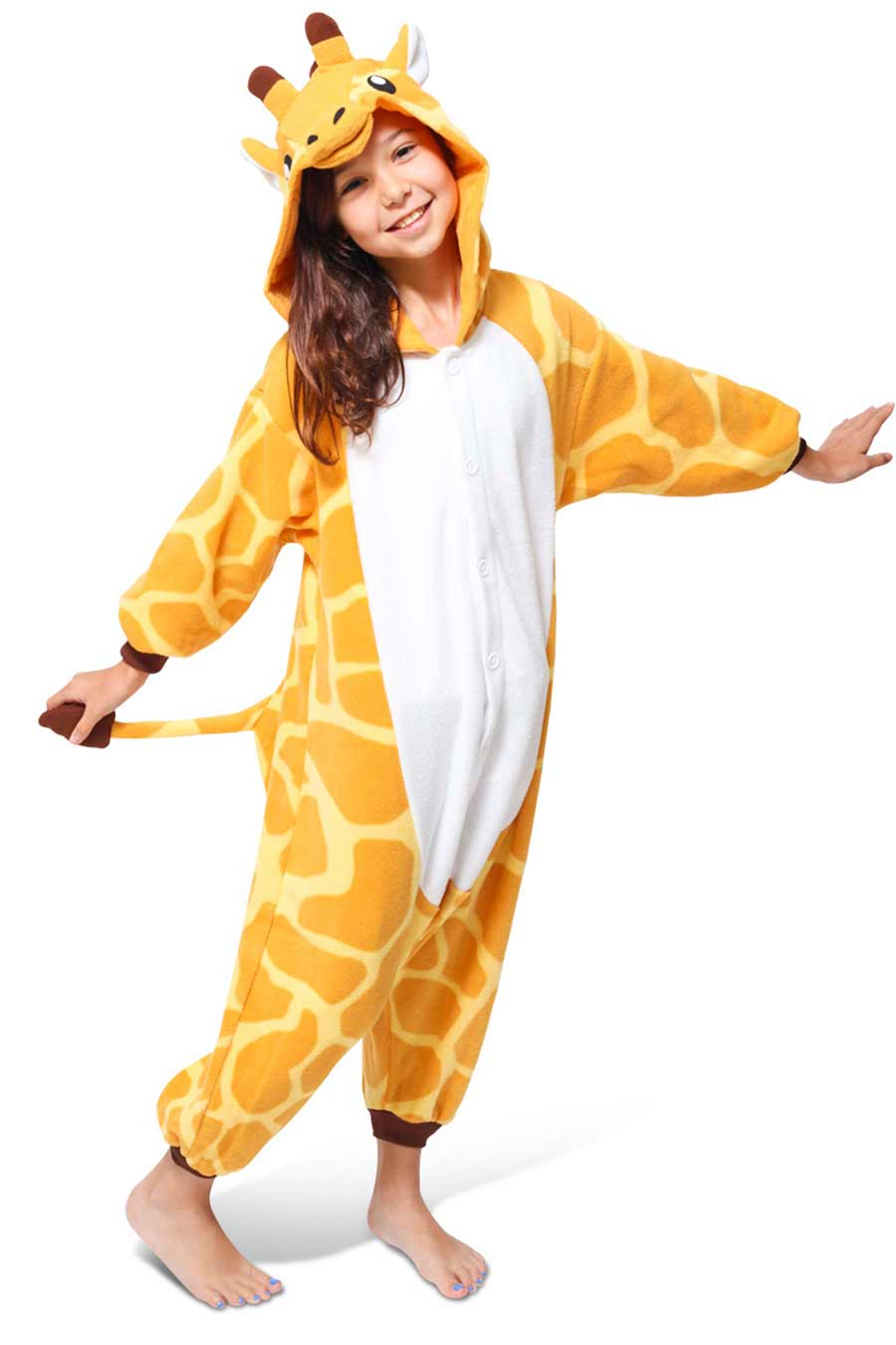 Kids Giraffe Animal Kigurumi Onesie Costume Pajamas Main 130cm