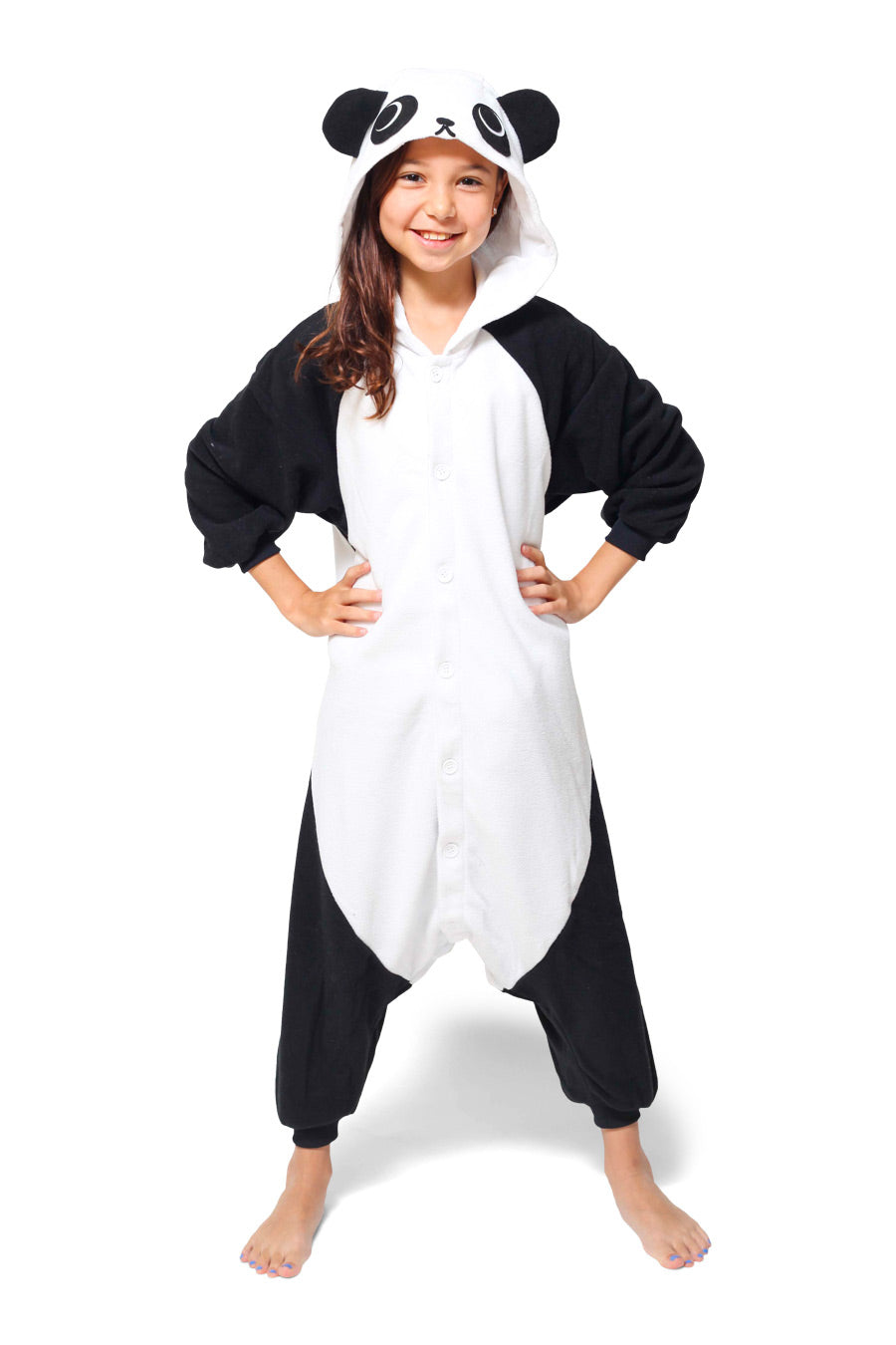 Kids Panda Animal Kigurumi Onesie Costume Pajamas Main 130cm