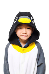 Kids Penguin Animal Kigurumi Onesie Costume Pajamas Hood 110cm