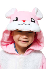 Kids Rabbit Animal Kigurumi Onesie Costume Pajamas Hood 110cm