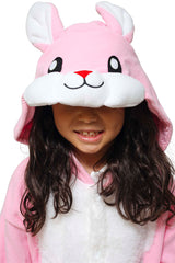 Kids Rabbit Animal Kigurumi Onesie Costume Pajamas Hood 130cm