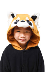 Kids Red Panda Animal Kigurumi Onesie Costume Pajamas Hood 110cm