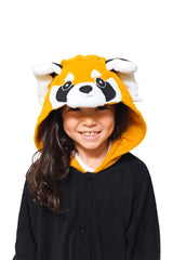 Kids Red Panda Animal Kigurumi Onesie Costume Pajamas Hood 130cm