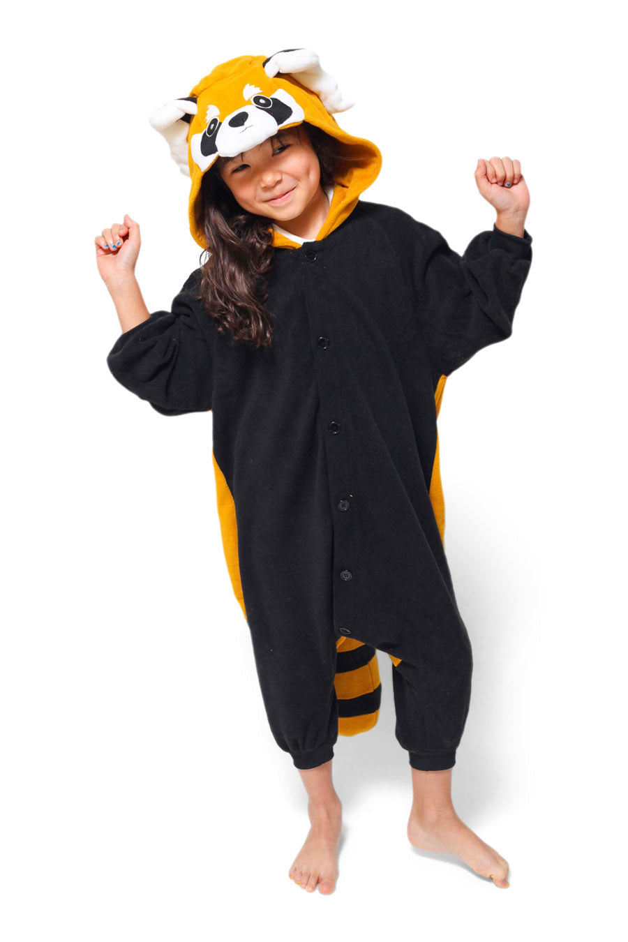 Kids Red Panda Animal Kigurumi Onesie Costume Pajamas Main 130cm