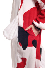 Koi Fish Animal Kigurumi Adult Onesie Costume Pajamas White Red Black Pockets