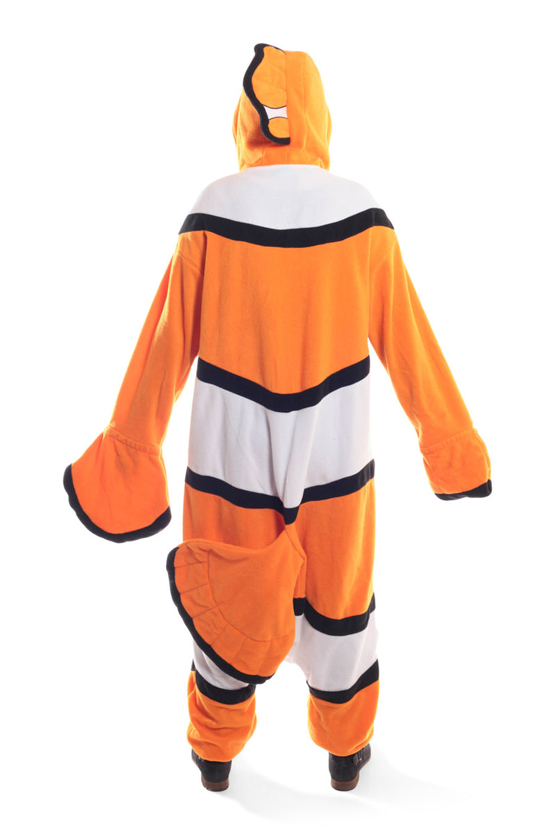 Nemo Character Kigurumi Adult Onesie Costume Pajamas Fish Orange Back