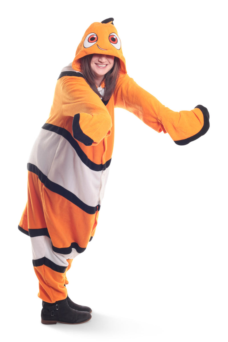 Nemo Character Kigurumi Adult Onesie Costume Pajamas Fish Orange Main