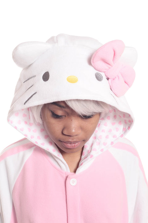 Hello Kitty Pink Kigurumi Onesie Costume Pajamas