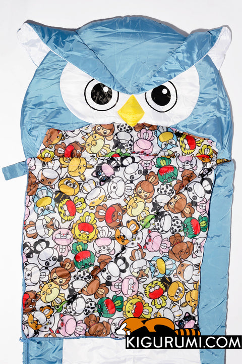 Owl Sleeping Bag Kigurumi Camping One Size Adult
