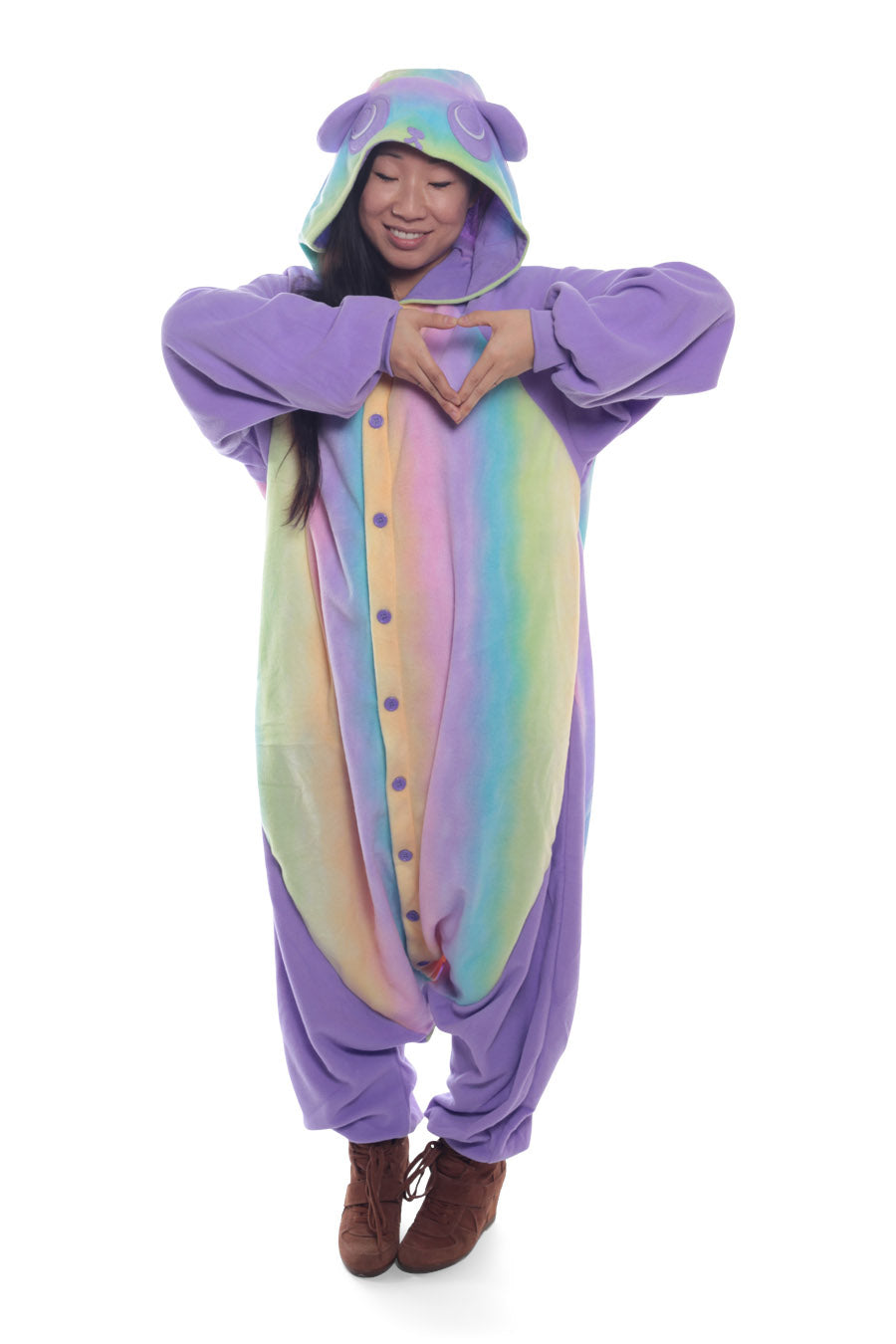 Pastel Hologram Panda Animal Kigurumi Adult Onesie Costume Pajamas Main