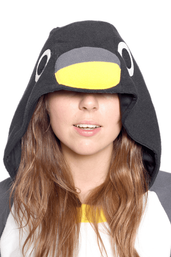 Penguin Animal Kigurumi Adult Onesie Costume Pajamas Black Hood