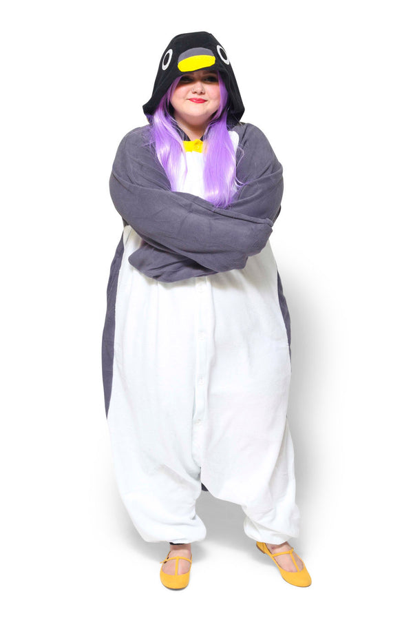 Penguin X-Tall Animal Kigurumi Adult Onesie Costume Pajamas Black Main