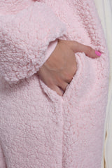 Pink Alpaca Animal Kigurumi Adult Onesie Costume Pajamas Pockets