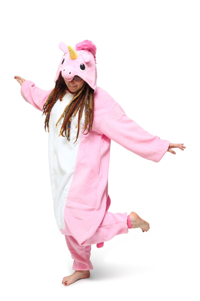 Pink Unicorn Animal Kigurumi Adult Onesie Costume Pajamas Main