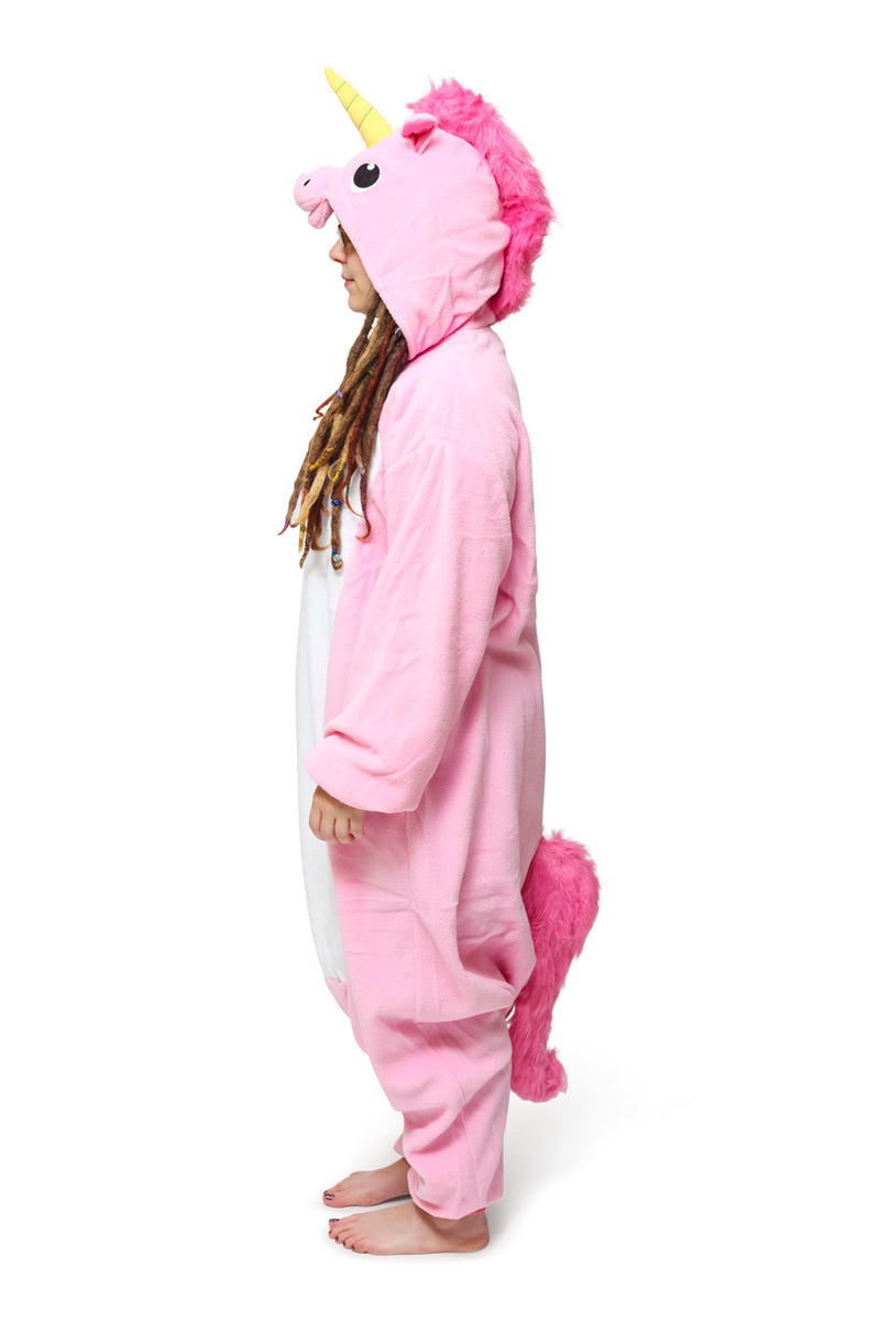 Pink Unicorn Animal Kigurumi Adult Onesie Costume Pajamas Side