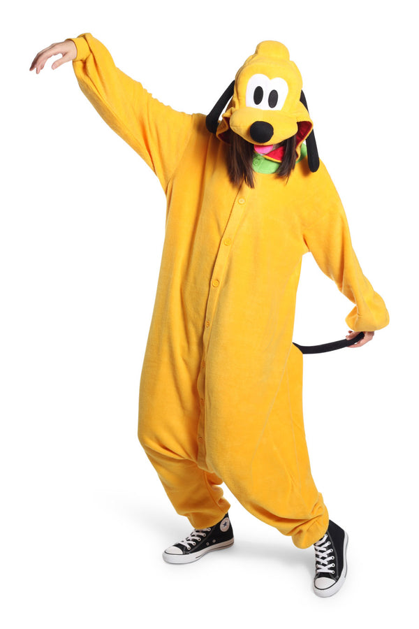 Pluto Character Kigurumi Adult Onesie Costume Pajamas Yellow Main Seconary