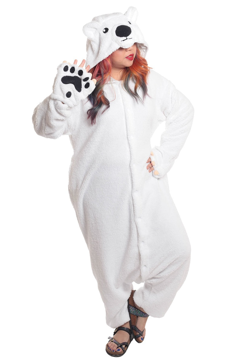 Polar Bear Animal Kigurumi Adult Onesie Costume Pajamas Main Seconary